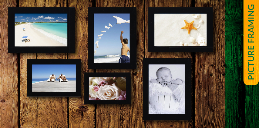 image of pictures framed